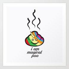Magical poo Art Print