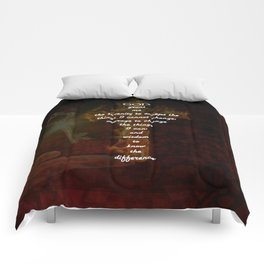 Serenity Prayer Inspirational Quote With Beautiful Christian Art Comforters