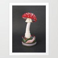 Specimens from Regnum Fungi: Amanita Muscaria Art Print