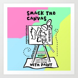 Smack the Canvas - Zine Page Art Print