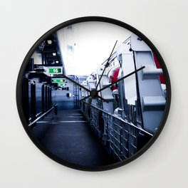 On A Ships Deck Wall Clock