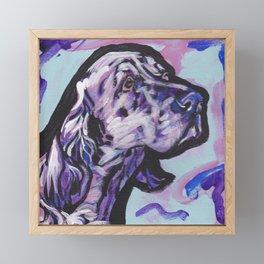 fun ENGLISH SETTER bright colorful Pop Art painting by Lea Framed Mini Art Print