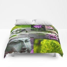 Buddha & Chakra Zen Collage Comforters