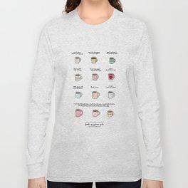 Coffee of Gilmore Girls Long Sleeve T-shirt