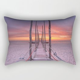 I - Seaside jetty at sunrise on Texel island, The Netherlands Rectangular Pillow