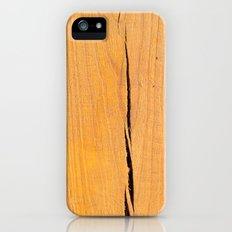 Crack in Wood Slim Case iPhone (5, 5s)