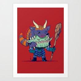 Legend of Animal Hat: Brûlée and Kaiser Art Print