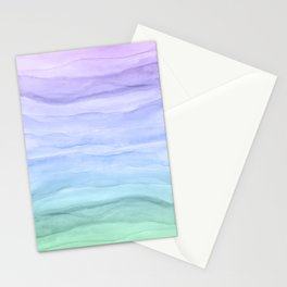 Layers Blue Ombre - Watercolor Abstract Stationery Cards