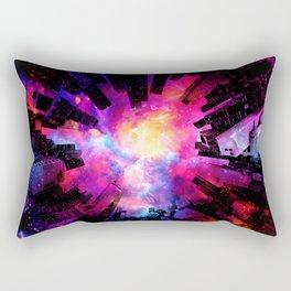 Abstract City Nebula Night Rectangular Pillow
