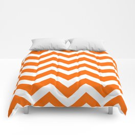 Orange color - Zigzag Chevron Pattern Comforters