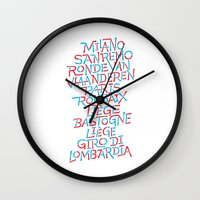 Five Monuments of Cycling Wall Clock
