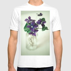 Sweet Violet Mens Fitted Tee White MEDIUM
