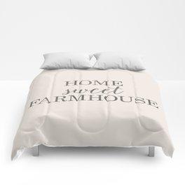 Home Sweet Farmhouse, Rustic Farmhouse Style Word Art, Home Sweet Home Comforters