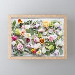 Colorful Boho Floral Layout Design Framed Mini Art Print