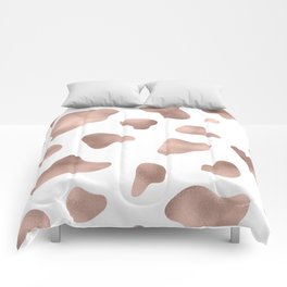 Rose gold cow print Comforters