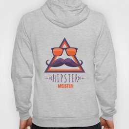 Hipster master with glasses and beard Hoody