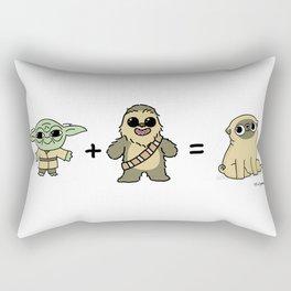 The origin of pugs Rectangular Pillow