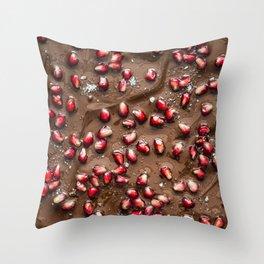 Chocolate Pomegranate Throw Pillow
