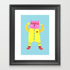 Happy Cat! Framed Art Print