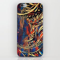 Blue and Gold iPhone & iPod Skin
