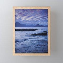 Sunset Over the Cuillin III Framed Mini Art Print