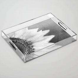 B&W Sunflower Acrylic Tray