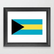 Flag Of The Bahamas Framed Art Print