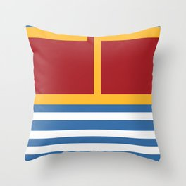 vintage primary colors Throw Pillow