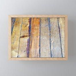 Floorboards Framed Mini Art Print