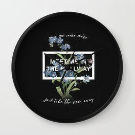 Harry Styles Meet me in the hallway graphic design artwork Wall Clock