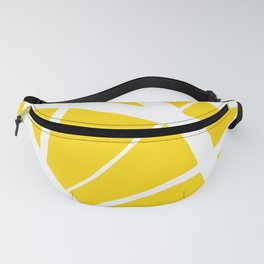 Sunshine Yellow w/ White Star Abstract Fanny Pack