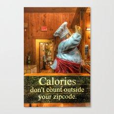 Calories Don't Count Canvas Print