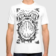 Anger White Mens Fitted Tee MEDIUM