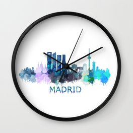 Madrid City Skyline HQ Wall Clock