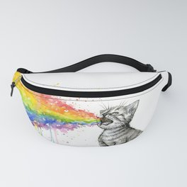 Kitten Puking Rainbow Fanny Pack
