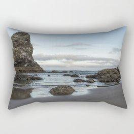 A Serene Morning at Cannon Beach Rectangular Pillow
