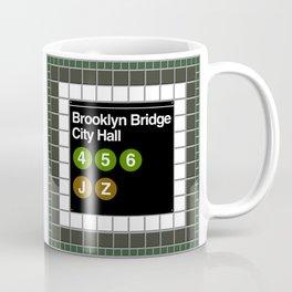 subway brooklyn bridge sign Coffee Mug
