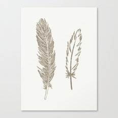 Luxe Feathers Canvas Print