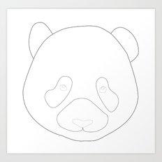 P from Panda Art Print