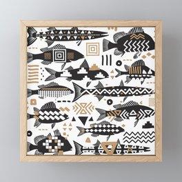 Boho Fishes Framed Mini Art Print