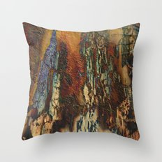 Woodsie Woo by Sherri Of Palm Springs-abstract Throw Pillow