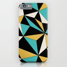 Geo - blue, orange, black and white. iPhone 6s Slim Case