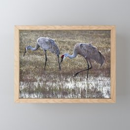 Working in Pairs Framed Mini Art Print