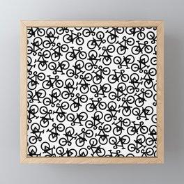 Black Bikes Pattern Framed Mini Art Print