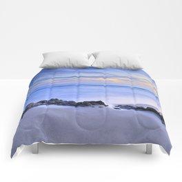 Monsul beach at sunset Comforters