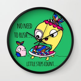 """""""Little Steps Count"""" / Turtle and His Friend Wall Clock"""