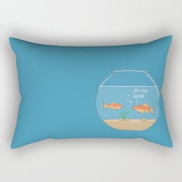 It's a small small world Rectangular Pillow
