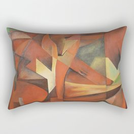 Foxes - Homage to Franz Marc (1913) Rectangular Pillow