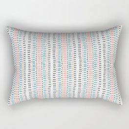 Arrow Stripe, Pink Blue Grey Rectangular Pillow