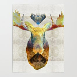 Mystic Moose Art by Sharon Cummings Poster